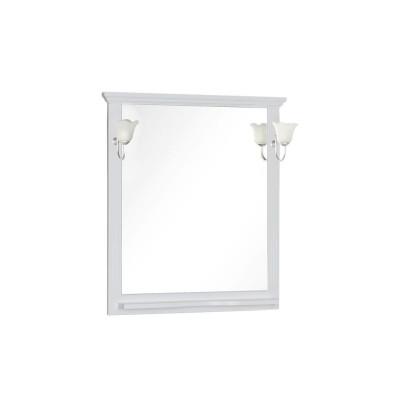 Зеркало Aquanet Лагуна 85 белый